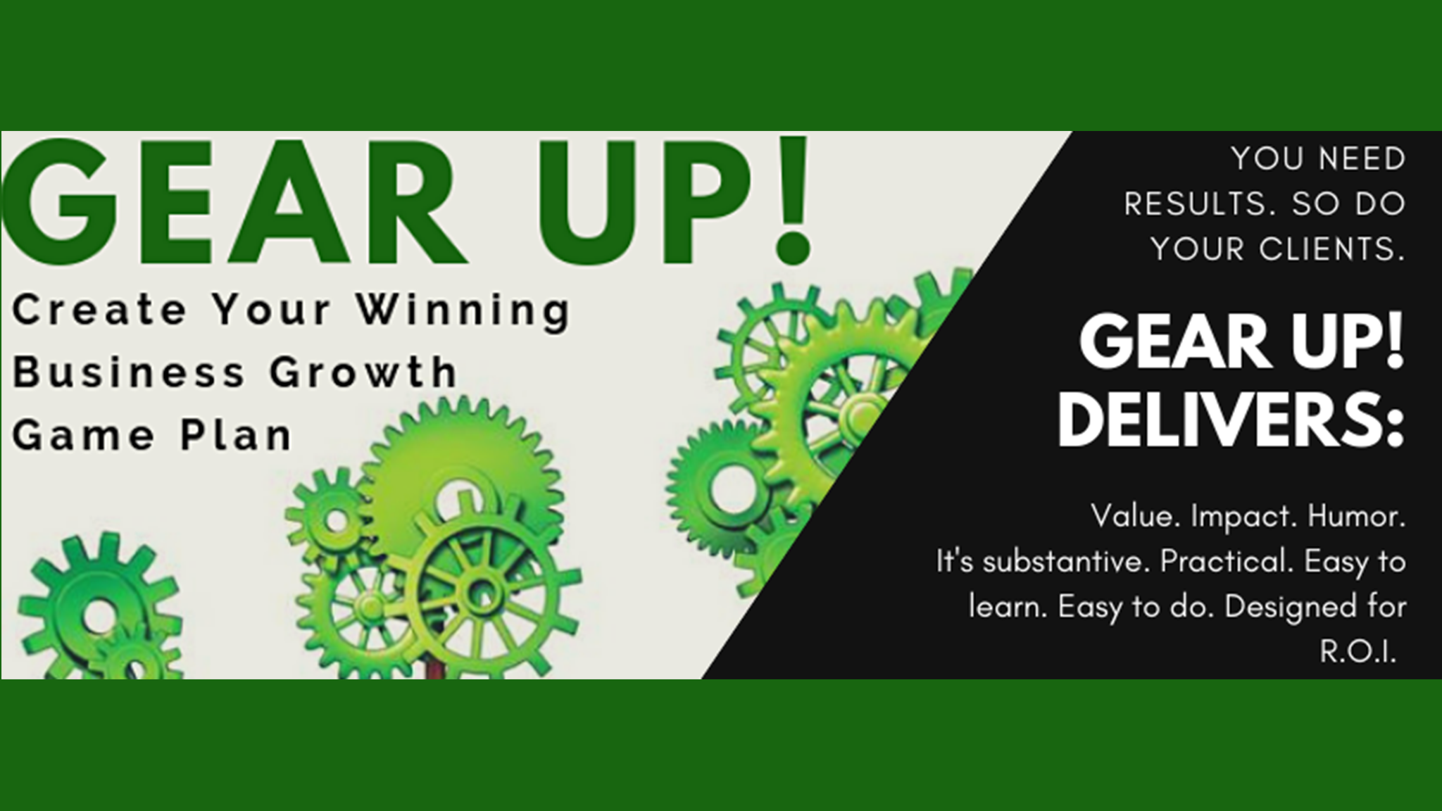 GEAR UP! Kickstart Your Business Growth for the Next 12 Months!