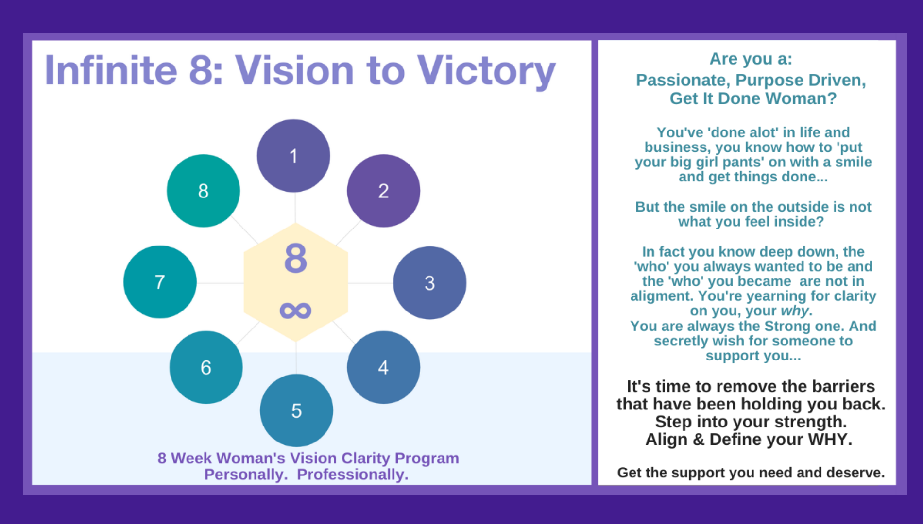 Infinite 8 Vision to Victory: Women's Vision Clarity Leadership Program